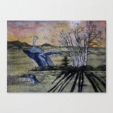 Blue Breaching Whale  Canvas Print