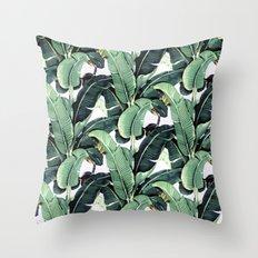 Tropical Banana Leaf Throw Pillow