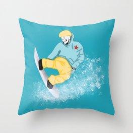 Fast Eddie Throw Pillow