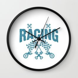 An Education is Important But Racing is Importanter Racer Wall Clock
