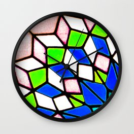 Cordoba Stained Glass Wall Clock