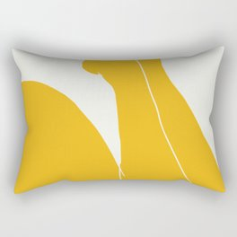 Nude in yellow 3 Rectangular Pillow