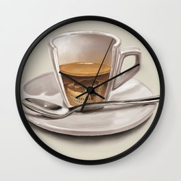 Italian coffee Wall Clock