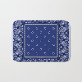Classic Royal Blue Bandana Bath Mat