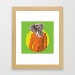 Elephant head Framed Art Print