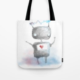 Robot Heartfelt Tote Bag