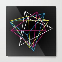 Tetrahedron CMYK (dark) Metal Print