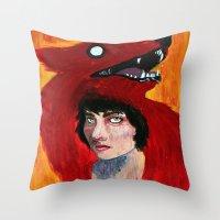 predator Throw Pillows featuring Predator by Taylor Crockett