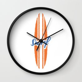 Surf T-Shirt Wall Clock