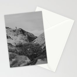 Man by the sea Stationery Cards