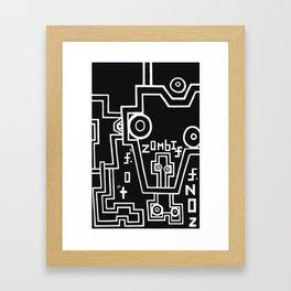 zombie. zone. Framed Art Print