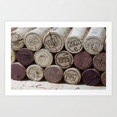 Vintage Wine Corks Art Print