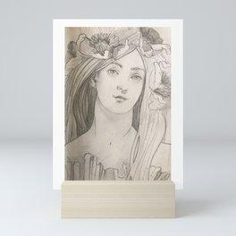 Shady lady 2 Mini Art Print