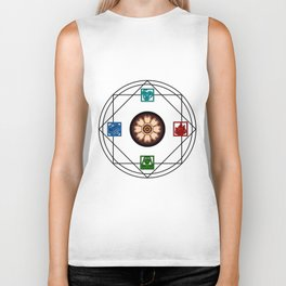 Elemental White Lotus - ATLAS Biker Tank