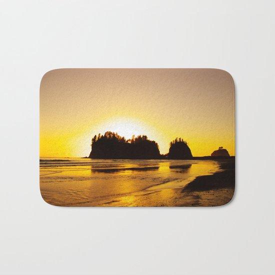 sunset gold Bath Mat