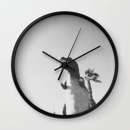 DINO (B+W) / Cabazon Dinosaurs, CA Wall Clock