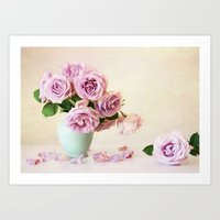 girly Art Prints featuring Girly by Colleen Farrell