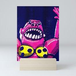 Teeny Weeny Yellow Polka Dot Bikini Gorilla Mini Art Print