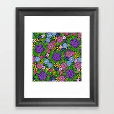 Wild Wallflowers (Color) Framed Art Print