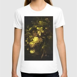 Flowers in a Vase - yellow T-shirt