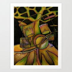 Drums- Rooted Beat Art Print