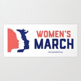 Women March On Washington 2017 Official Art Print