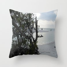 Shell Trees Throw Pillow
