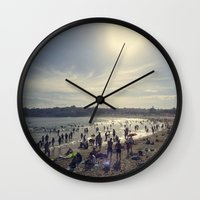 500 days of summer Wall Clocks featuring Summer Days by jarjake