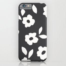 Simple Hand Cut Floral iPhone Case