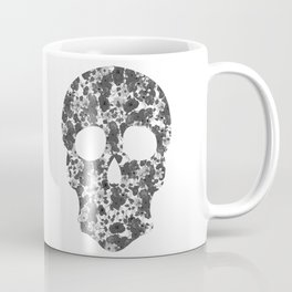 Black and White, Flower Skull Coffee Mug
