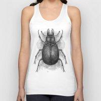 beetle Tank Tops featuring Beetle by Salih Gonenli
