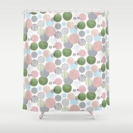 Neutral Circles Shower Curtain
