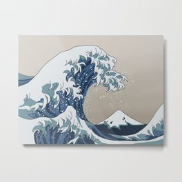 The Big Wave (homage to The Great Wave) Metal Print