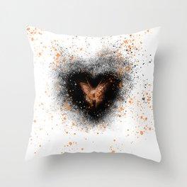 luna the butterfly Throw Pillow