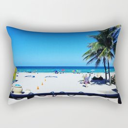 At The Beach With ᔕ.𝓞.𝓣.Ⓑ. - Florida Beach Flow - Blue Endless Ocean Vibes - Chill - Bliss Rectangular Pillow