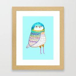 Blue Owl. Framed Art Print