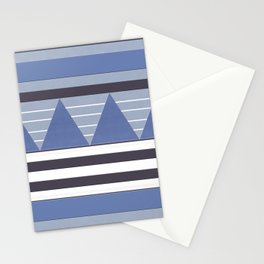 Patchy Stormy Blues Stationery Cards