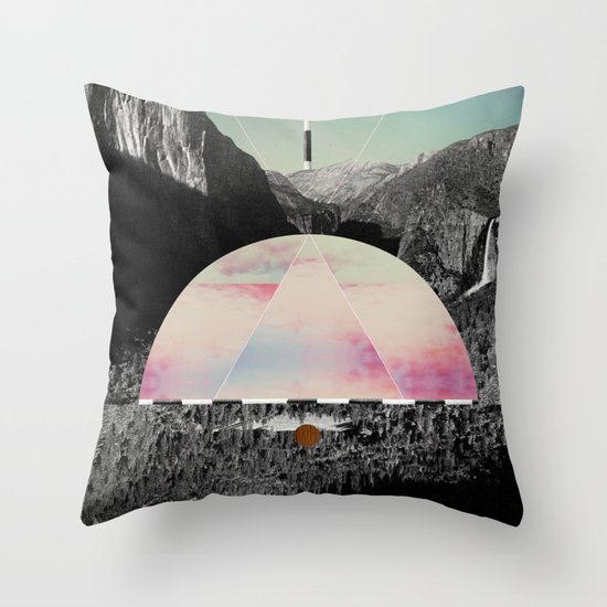 Candy Floss Skies Throw Pillow