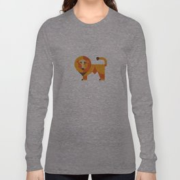 Geometric lion Long Sleeve T-shirt