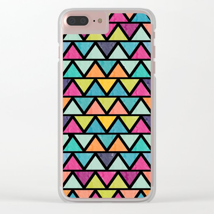Lovely geometric Pattern IV Clear iPhone Case