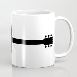 Acoustic Guitar Silhouette Coffee Mug