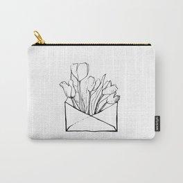 Aspetto i tuoi fiori nella casella delle lettere Carry-All Pouch