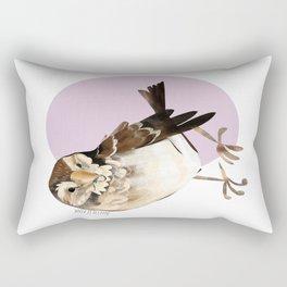 Female Sparrow in Pink (c) 2017 Rectangular Pillow
