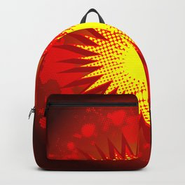 Red Cartoon Explosion Backpack