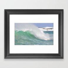 Making Waves Pillow Framed Art Print