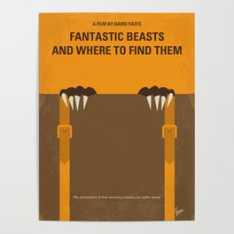 No962 My Fantastic Beasts minimal movie poster Poster