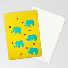 Playful Elephants Stationery Cards