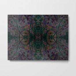 Emerald tree geometry VIII Metal Print