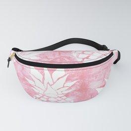 Pineapple Tropical Pink Shibori Pattern Fanny Pack