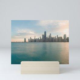 Tonight -Chicago Skyline Photography Mini Art Print